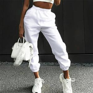 Designer Femmes Sweatpants Automne Hiver lâche Femme Sarouel Casual épais Solide Couleur femme Pantalons longs