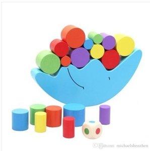 Candywood Madeira Lua saldo do jogo Crianças Brinquedos Educativos Para Crianças Wooden Toys balanceamento Blocos do bebê Crianças Montessori L