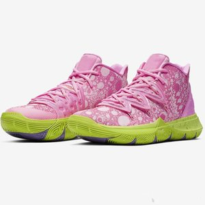 2020 New Girls Children Kyrie 5 TV PE Women's Basketball Shoes Special 20th Anniversary Sponge x Irving 5s Five Luxury Sneakers