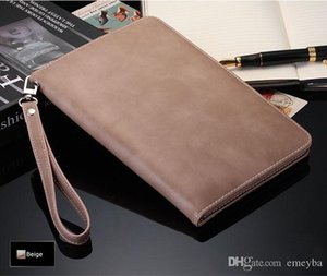 """NEW Grade Retro Business Hand Strap Leather Case for ipad mini1 2 3 2 3 4 ipad2018 air air2 ipad pro 9.7"""" Handheld Stand Card Smart Cover"""