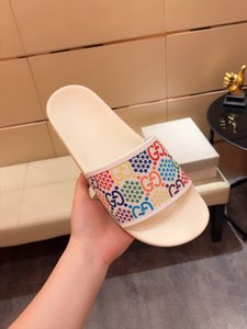Fashion Luxury designer sandals forward 2020 hot sale sandals for men and women flat slippers High quality Flower Printed Slippers H214