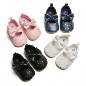 Toddler Girl Crib PU Shoes Newborn Baby Bowknot Soft Sole Prewalker Stars Print Sneakers Baby First Walkers Bowknot Shoes AJn7#