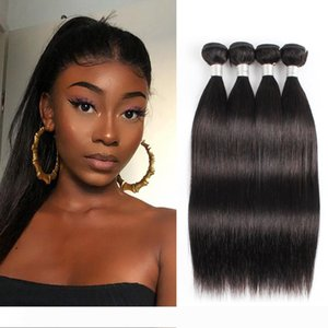 Brazilian Virgin Straight Human Hair Bundles Natural Color Indian Hair bundles 3 4 Bundles 10-28 inch Remy Human Hair Extensions