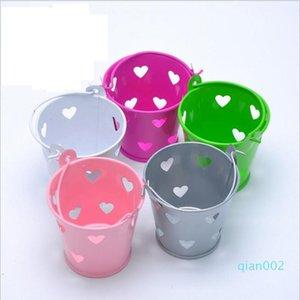 Eco-Friendly Свадебных конфет цвета мини Bucket свадебной мини ковшовые Laser Cut конфета коробка благосклонность благоприятствует баночный пакет