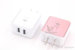 2020 Il nuovo caricatore rapido a parete Dual USB SIAMO Home AC Adapter 5V / 2.1A con luce istantanea blu per iphoneX 8 7/6/5 Samsung S7 S6 Nota4 4 colori