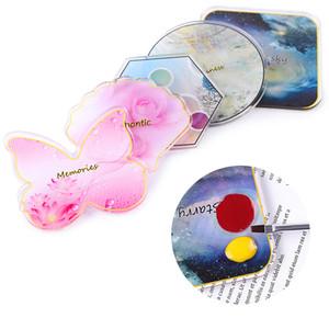 Смола Nail Art Palette Color Board Butterfly / Shell / шестигранный / Round / Square Дизайн Типсы Display Holder Маникюр