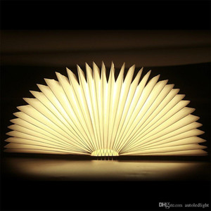 USB قابلة للشحن خشبية قابلة للطي LED ليلة ضوء الكتاب الضوء - بطاريات ليثيوم 2500MAH مكتب مصباح، تصل إلى 8 ساعات الاستخدام المغناطيسي الجدول مصباح