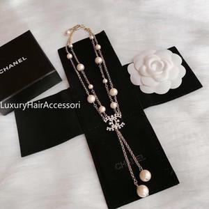 2020 colar de cor AMOR dupla Círculo Pingente Rose Gold Silver para Collar Mulheres Vintage Bijuteria com o conjunto z00006 caixa original