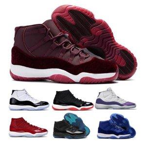 Erkek 11 11'leri Basketbol Ayakkabı Sneakers Concord 45 Heiress Kadife Gym Kırmızı Space Jam Jumpman Gama XI 2020 Yeni Geliş Kadın Trainer Ayakkabı