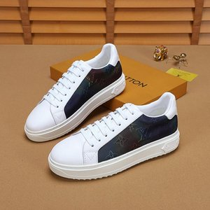 2020u new luxury design mens fashion leather printed sports shoes all-match breathable mens casual shoes mens banquet shoes Size: 38-45