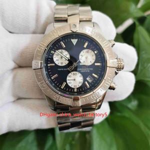 Heiße Gegenstände Hohe Qualität Männer 43mm Avenger Classic Series A13381111B2A1 Edelstahl VK Quarz Chronograph Workin Mens Uhren Uhren