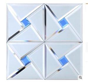 mozaik cam mozaik çini mozaik TV arka plan tuvalet kiremit duvar C03 2020 sıcak satış Kristal cam