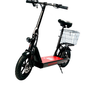 Bicicleta elétrica 400W 48V Duas Rodas Scooters elétrico de 12 polegadas Folding scooter elétrico com uma vasta Pedal