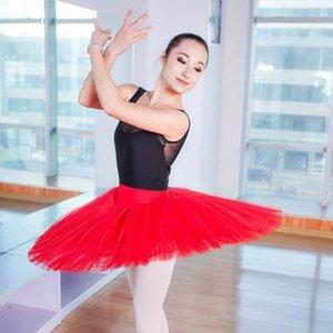 Ballet Feminino saia uniformes profissionais Platter Tutu Black Red White Ballet Dança do traje para as Mulheres Tutu adultos 6 Camadas