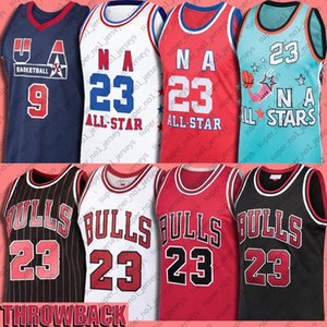 Bull 23 Michael Jersey MJ 33 Scottie Pippen Jerseys 91 Dennis Rodman Basketball Jersey North Carolina Throwback Vintage
