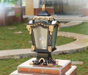 European Creative Outdoor Courtyard Villa Outdoor Door Pillar Wall Pillar Lamp