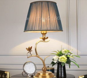 New arrival American retro copper table lamps decorative  classic desk lamp hotel villa living room bedroom led table lights MYY