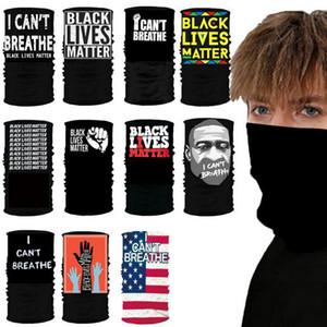2020 heiße schwarze Lives Matter USA Designer-Schal Waschbar wiederverwendbare Gesichtsmaske Schutzstoffmaske Radfahren Gesichtsmasken DHl Kostenlos