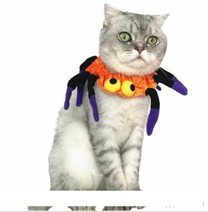 The latest Halloween pet dog and cat dress up accessories Spider-Man collar pet supplies spider shape elastic bib cosplay party decoration
