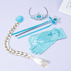 Varita mágica banda para el cabello accesorios 3-4pcs dulce princesa niña de pelo niña conjunto corona Juego de Roles maquillaje juguete Headwear kY2m #
