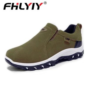 Fhlyiy 2020 Spring Summer Outdoor Loafers Sneakers For Men Shoes Breathable Suede Male Footwear Walking Comfortable Slip-On CX200803