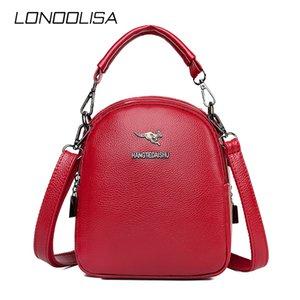 LONOOLISA Марка Малый Кожа PU сумки для женщин 2020 Дизайнерская сумка плеча высокого качества Lady Кошельки Crossbody Сумки Мешком Май