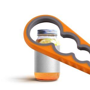 Крышка Jar открывалка 4 В 1 Handy завинчивающейся Jar Консервооткрывателей Многоцелевого Консервного нож бутылка крышка Грип гаечного ключ Kitchen Gadgets Tool Retail