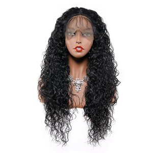 Black Long Lace Front Synthetic Hair Wigs Kinky Curly Wig 26 Inch Cosplay Pre Plucked Heat Resistant Fiber with Baby Hair