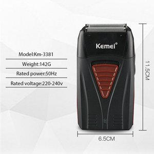 2016 Kemei 3381 Baber Double Edged 4D Reciprocating Shaver Multifunctional Powerful Usb Rechargeable Trimmer Mens Styling Tool Kemei 3381 bO