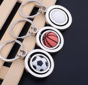 3D Spor Döner Basketbol Futbol Golf Anahtarlık Anahtarlık eşyalar kolye Anahtarlık Anahtarlık Topu Hediye DWC735