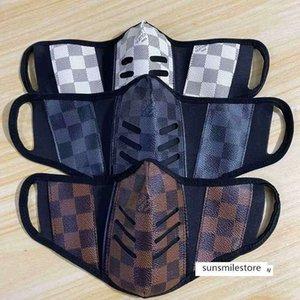 Stil Gesicht Marken unisex waschbar atmungsDruck Luxus-Designer wiederverwendbare Maske trendy winddichte Anti-Staub-Masken Radfahren