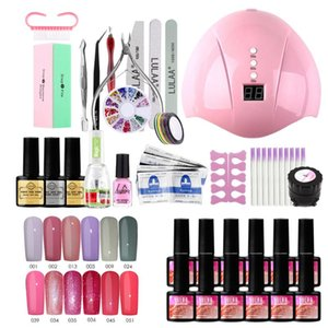 Nail Set UV LED Lamp Dryer 36w With 12pcs Nail Gel Polish Kit Soak Off Manicure Tools Set electric drill For Tools