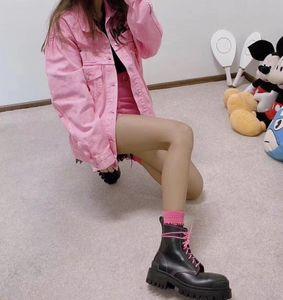 여자 003에 대한 땅딸막 한 발 뒤꿈치 부팅 2020 뜨거운 판매 - 두꺼운 발 뒤꿈치 여성 마틴 부츠 발목 신발 진짜 가죽 부츠 소 근육 유일한 레이스