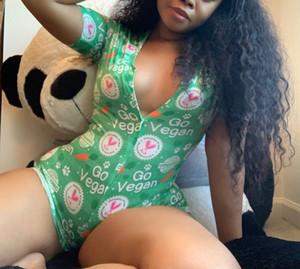 Elastico sexy Tutina Pigiama adulti donne Plus Size Pulsante Body Body Breve Sleepwear pagliaccetti della tuta del Partito onsie
