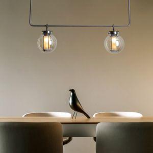 Pendentif de boule de verre de bronze moderne Lumière maison Salon Salon Salle à manger Chambre à coucher Chambre à coucher Suspension LED Plafonnier PA0577