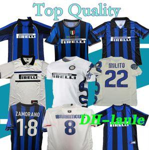 Finale 2009 2010 MILITO SNEIJDER J.ZANETTI Retro Fußball Jersey LUCIO Fußball MILAN 1998 1999 Pirlo 97 98 99 Djorkaeff Baggio RONALDO Inter