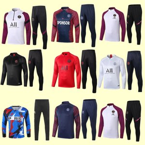 2020 2021 Paris Mens Anzug Real Madrid Paris Sets Fußballtrainingsnazuginstallationssätze Sets Jacke FRANCE Mbappe survêtement Fußball-Trainingsanzug