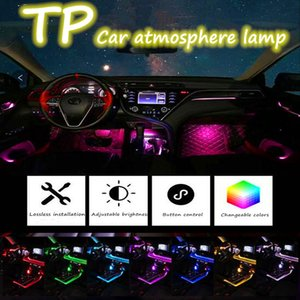 Car Interior Lighting Atmosphere Strips 12V Auto LED Strip EL Wire Set Car Decoration Neon Lamp Flexible Rope Tube Ambient Light