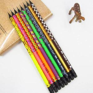 Black Wood Bleistift gemalte HB Bleistifte mit Radiergummis für Schule-Büro-Schreibwaren