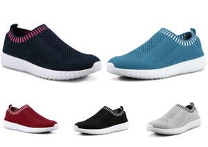 HOTBest la venta de grandes zapatos de mujer de tamaño volando un pie zapatillas de deporte de las mujeres respirables los zapatos ocasionales de los deportes ligeros de los zapatos corrientes 36-44