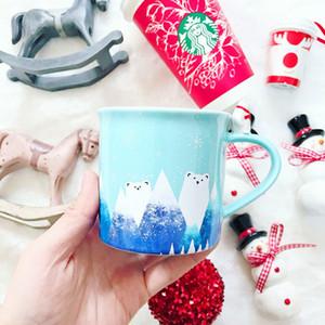 Épuisé Starbucks tasse de café d'ours polaire hiver de Noël poignée d'ours 3D en céramique tasse de bureau 12OZ