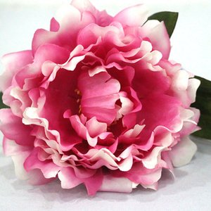 10pcs lot Beautiful Peony Artificial Silk Flowers bouquet Home Party Spring Wedding Decoration Marriage Peony Fake Flower Wreath
