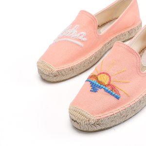 Zapatillas Mujer Angebot Neue Wohnung Plattform Sapatos Tienda Soludos Damen Espadrilles Schuhe Luxus-Designer Sunset Blume