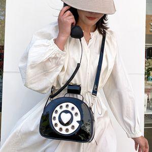 Eğlence Vintage Kız Totes Sweetheart Telefon Stil Moda Kadın Cüzdanlar ve Çanta Omuz Çantası moda sevimli Crosbody çanta