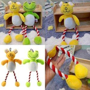 애완 동물 장난감 Cootton 로프 고양이 장난감 인터랙티브 개 장난감 기차 도구 35 개를 동반 / 팩 녹색 노란색 컬러 qqds FCwOL