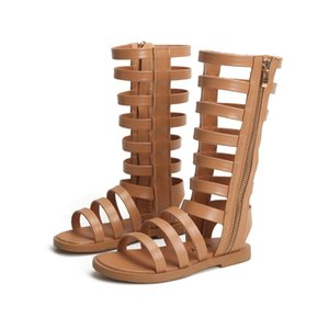 New Summer Child Sandals Roman Boots High-top Girls Sandals Kids Gladiator Sandals Hot Sale Toddler Girls Shoes