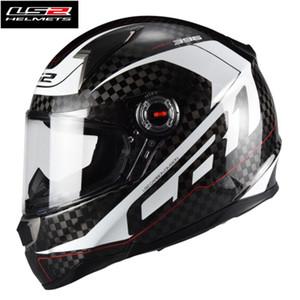 Sıcak Satış Ls2 FF396 Karbon Elyaf Tam Yüz Yarışı Motosiklet Kaskı capacete LS2 Kasko moto Kask ECE Sertifikası Erkek Kadın