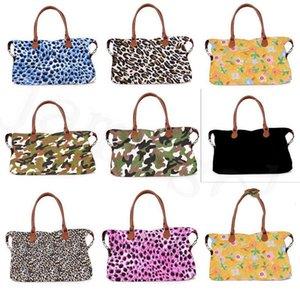 17inch karierten Blumenleopard Seesack Big Travel Tarnung camo Tote Tierdruckhandtasche Doppel-Griffe Weekender Bag DC301