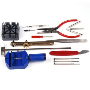 Brand New Watch Band Pin Remover Case Opener Needle-Nose Pliers Slotted Screwdriver 16 in 1 Watch Repair Tool Kit Set   WTL003