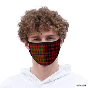Plaid 3d digital printing cotton gauze men's and women's life mask washable